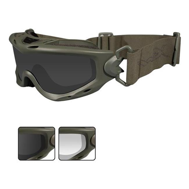 Wiley X Spear Smoke Gray / Clear 2 Lenses Foliage Green