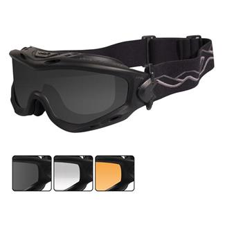 Wiley X Spear Matte Black 3 Lenses Smoke Gray / Clear / Light Rust