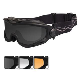 Wiley X Spear Matte Black Smoke Gray / Clear / Light Rust 3 Lenses