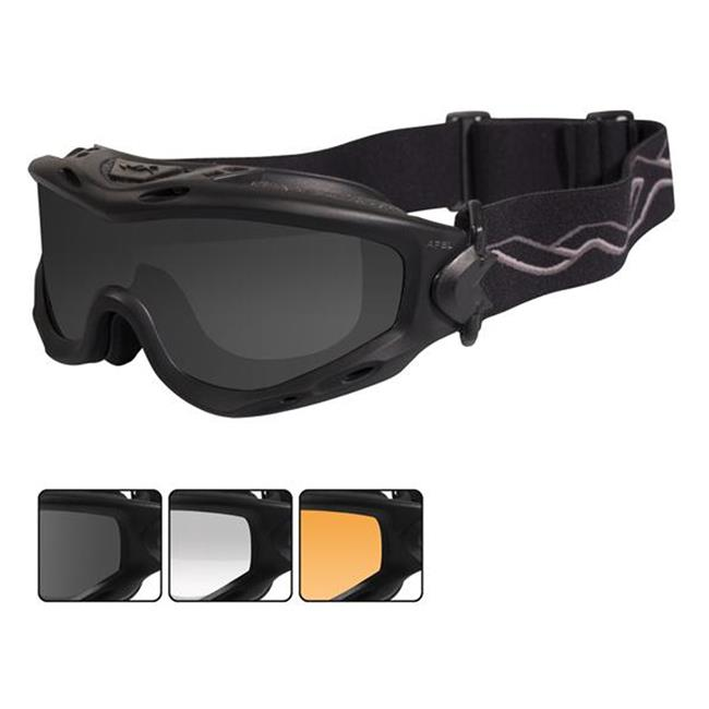 Wiley X Spear Smoke Gray / Clear / Light Rust Matte Black 3 Lenses