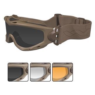 Wiley X Spear Tan (frame) - Smoke Gray / Clear / Light Rust (3 Lenses)