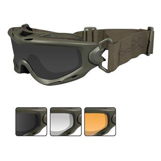 Wiley X Spear Foliage Green 3 Lenses Smoke Gray / Clear / Light Rust