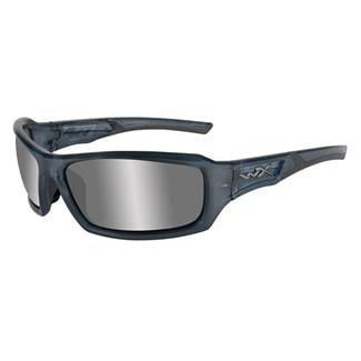 Wiley X Echo Steel Blue (frame) - Silver Flash (Smoke Gray) (lens)