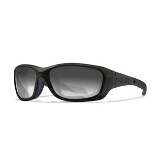 Wiley X Gravity Gloss Black Light Adjust Smoke Gray
