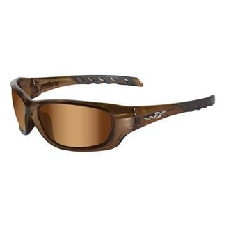 Wiley X Gravity Brown Crystal (frame) - Bronze Flash (Crimson Brown) (lens)