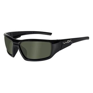 Wiley X Censor Gloss Black Polarized Smoke Green