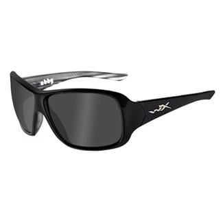 Wiley X Abby Polarized Smoke Gray Black Marble