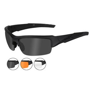 Wiley X Valor Smoke Gray / Clear / Light Rust 3 Lenses Matte Black
