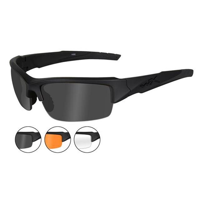 Wiley X Valor Matte Black 3 Lenses Smoke Gray / Clear / Light Rust