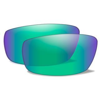 Wiley X Echo Replacement Lenses Polarized Emerald Mirror