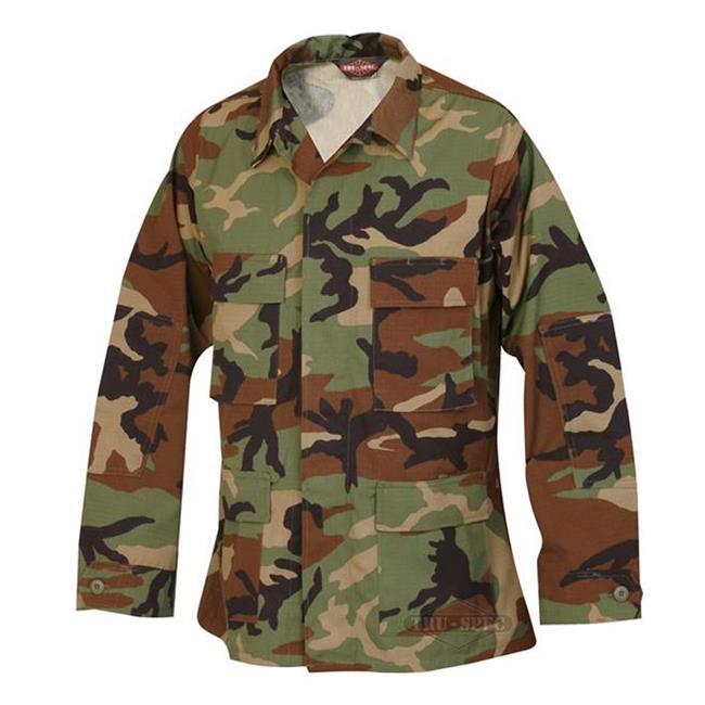 Tru-Spec Nylon / Cotton Ripstop BDU Coats Woodland