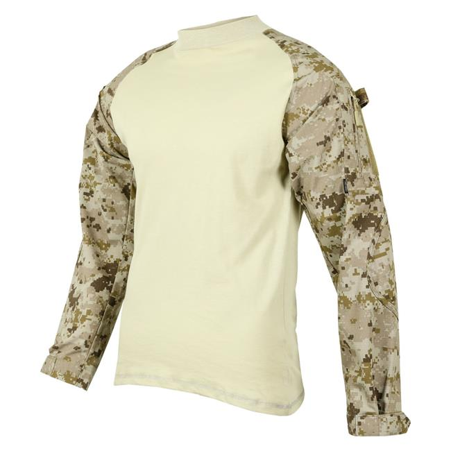 Tru-Spec Poly / Cotton Ripstop Combat Shirts Desert Digital / Sand