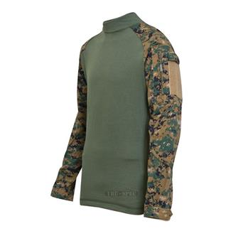 Tru-Spec Poly / Cotton Ripstop Combat Shirts Woodland Digital / Olive Drab