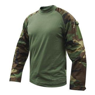 Tru-Spec Nylon / Cotton Ripstop Combat Shirts Woodland