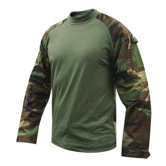 Tru-Spec Nylon / Cotton Ripstop Combat Shirts Woodland