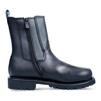 "Ridge 8"" All leather SZ Black"