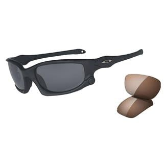 Oakley SI Split Jacket Matte Black Gray Polarized / VR28 Polarized