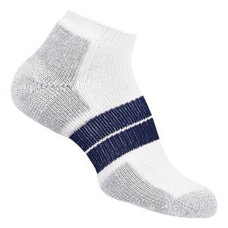 Thorlos 84N Runner Micro Mini Crew Socks White / Navy