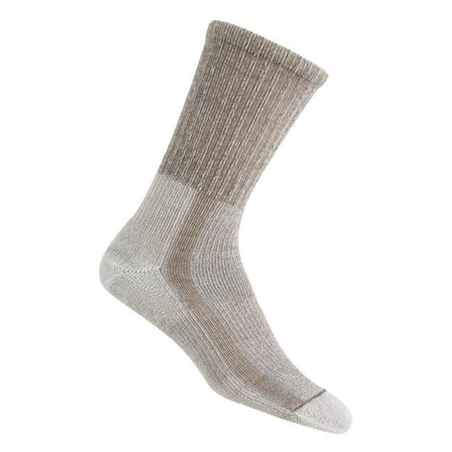 Thorlos Light Hiking Crew Socks Khaki / Heather