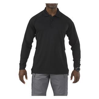 5.11 Long Sleeve Performance Polos Black