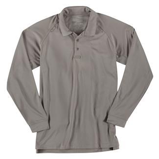 5.11 Long Sleeve Performance Polos Silver Tan