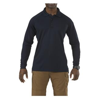 5.11 Long Sleeve Performance Polos Dark Navy