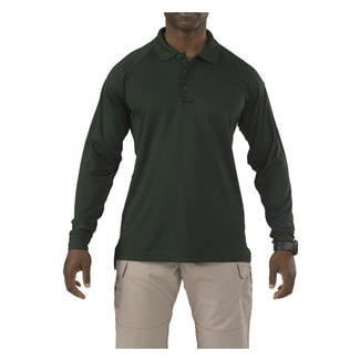5.11 Long Sleeve Performance Polos LE Green
