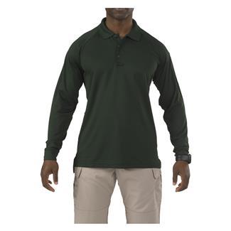 5.11 Long Sleeve Performance Polos LE Green