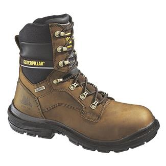 "Cat Footwear Generator 8"" 400G ST WP Dark Brown"