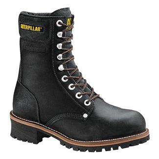 "Cat Footwear Logger 9"" ST Black Oiled Full Grain Leather"