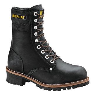 "Cat Footwear Logger 9"" ST Black Oiled Full Grain Leather"