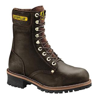 "Cat Footwear Logger 9"" ST Chocolate"