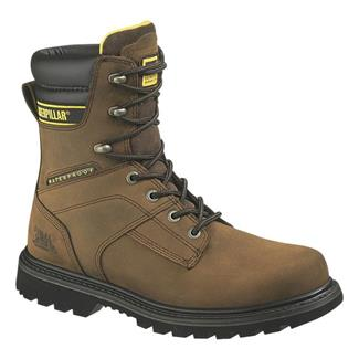 "Cat Footwear Salvo 8"" ST WP Dark Brown"