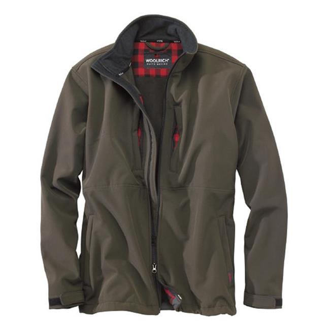 Woolrich Elite Softshell Jackets Dark Wood