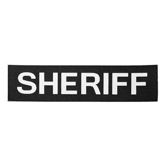 Elite Survival Systems Sheriff Patch White on Black