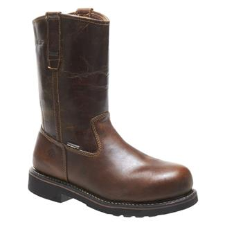 "Wolverine 10"" Brek Wellington ST WP Dark Brown"
