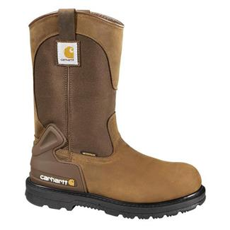 "Carhartt 11"" Wellington Work Boot WP Bison Brown"