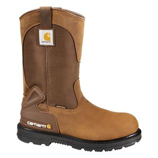 "Carhartt 11"" Wellington Work Boot ST WP Bison Brown"