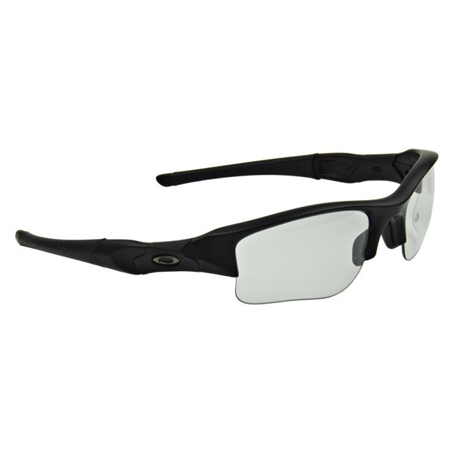 Oakley SI Flak Jacket XLJ Transition Matte Black Clear to Gray