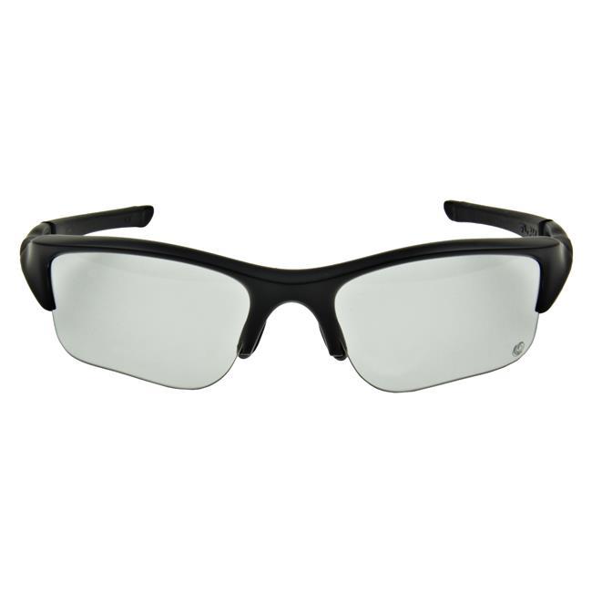 Oakley SI Flak Jacket XLJ Transition Matte Black Clear to Gray