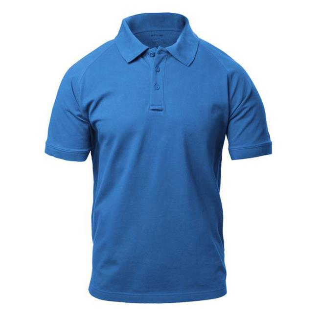 Blackhawk Warrior Wear Cotton Polos Royal Blue