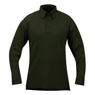 Propper Long Sleeve ICE Performance Polos Dark Green