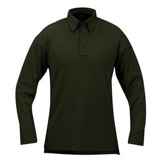 Propper Long Sleeve ICE Performance Polos Dark Green