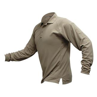 Vertx Coldblack Long Sleeve Polo Tan