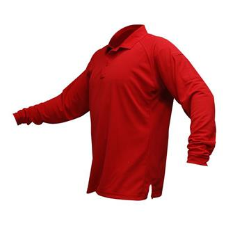 Vertx Coldblack Long Sleeve Polo Red
