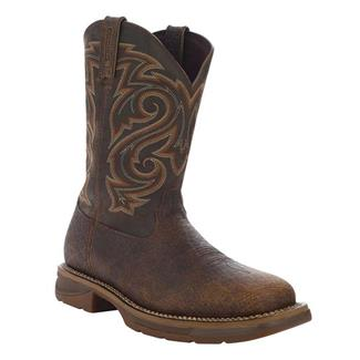 "Durango 11"" Workin' Rebel Pull-On WP Nicotine / Chocolate"