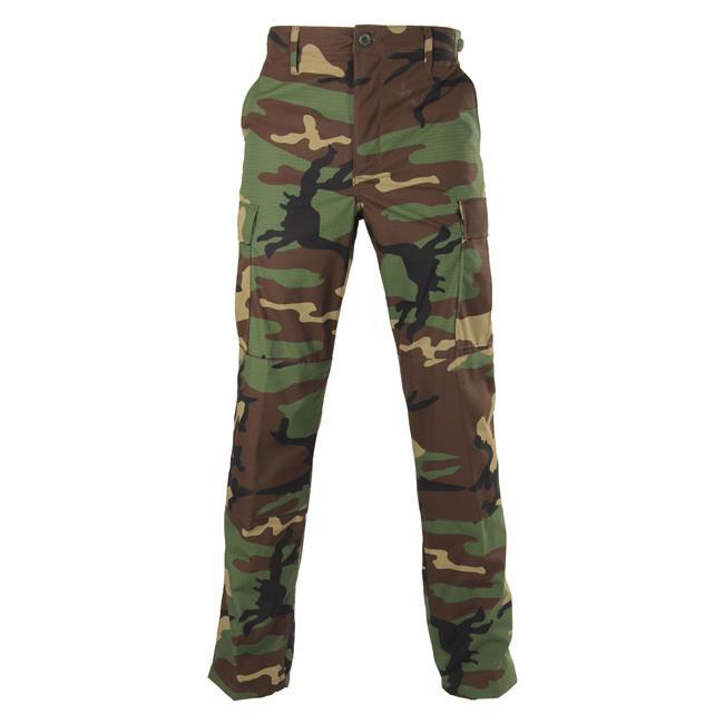 Genuine Gear Poly / Cotton Ripstop BDU Pants Woodland Camo