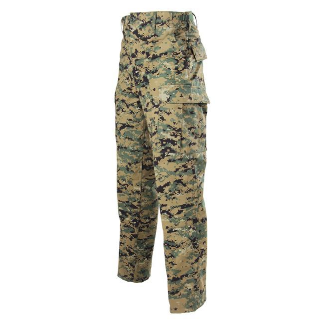Genuine Gear Poly / Cotton Ripstop BDU Pants Digital Woodland