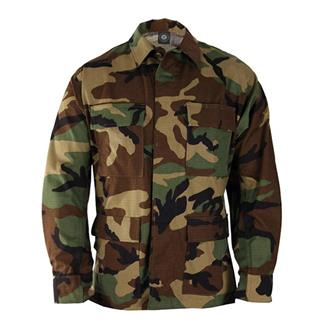 Genuine Gear Poly / Cotton Ripstop BDU Coats Woodland Camo
