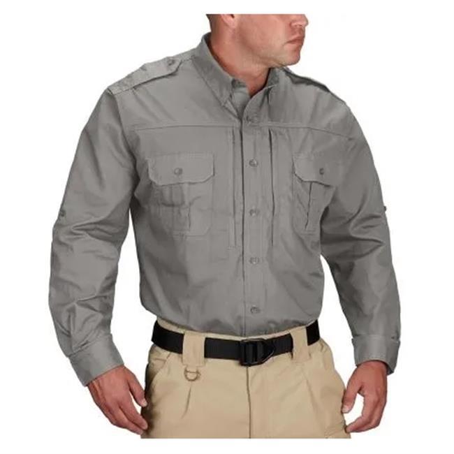 Propper Lightweight Long Sleeve Tactical Dress Shirts Gray
